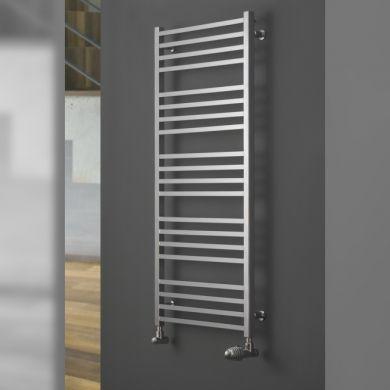 Eucotherm Verano Chrome Vertical Chrome Towel Radiator - 740x500mm