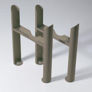 Kartell 3 column Insertable Feet - Raw Metal
