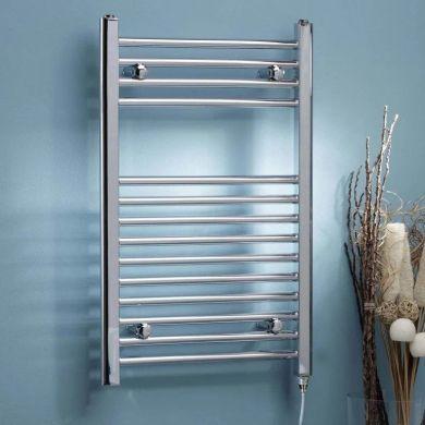 Kartell K-Rad Electric Straight Thermostatic Chrome Steel Towel Rail 1000x500mm