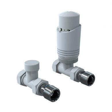 Kartell K-Design Straight Thermostatic Valves - White