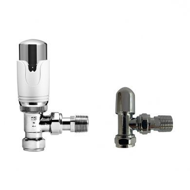 Kartell K-Therm Refined Angled Twin Valve Pack - Chrome
