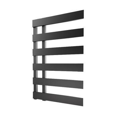 Radox Dora Matt Black Designer Mild Steel Towel Radiator 810x500mm