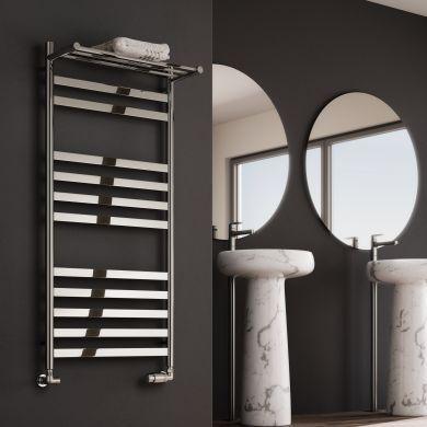 Reina Alento Polished Stainless Steel Designer Towel Radiator 720x530mm