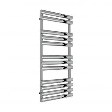 Reina Arbori Chrome Designer Mild Steel Towel Radiator 1130x500mm