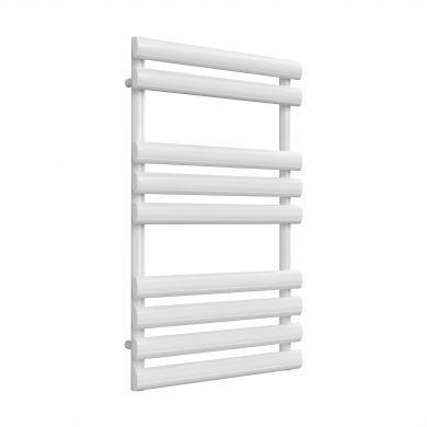 Reina Arbori White Designer Mild Steel Towel Radiator 820x500mm