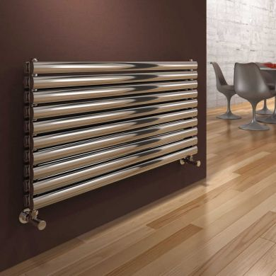 Reina Artena Double Stainless Steel Designer Radiator 590x400mm