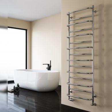 Reina Belbo Polished Stainless Steel Designer Towel Radiator 1180x530mm