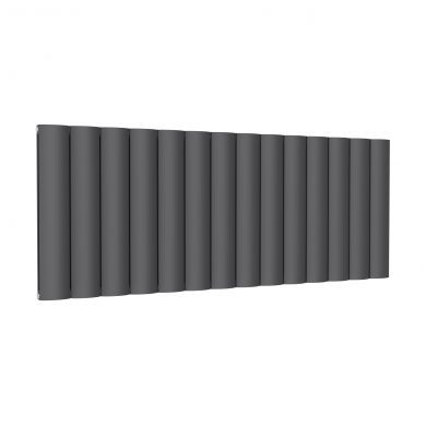 Reina Belva Horizontal Double Anthracite Designer Aluminium Radiator 600x1452mm