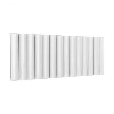 Reina Belva Horizontal Double White Designer Aluminium Radiator 600x1452mm
