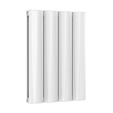 Reina Belva Horizontal Double White Designer Aluminium Radiator 600x412mm