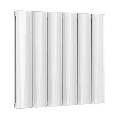 Reina Belva Horizontal Double White Designer Aluminium Radiator 600x620mm