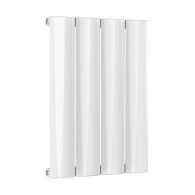 Reina Belva Horizontal Single White Designer Aluminium Radiator 600x412mm