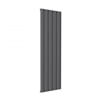 Reina Belva Vertical Single Anthracite Designer Aluminium Radiator 1800x516mm