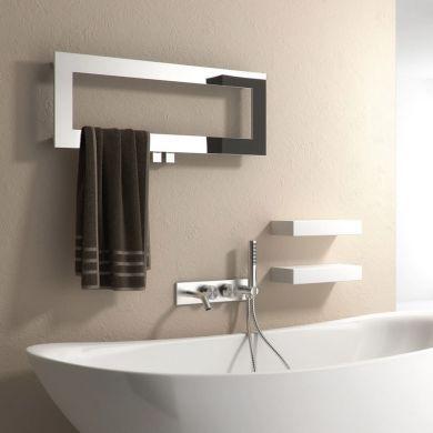 Reina Bivano Stainless Steel Designer Towel Radiator 300x800mm