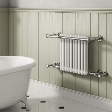 Reina Camden Traditional Steel Towel Radiator 508x680mm