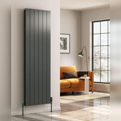 Reina Casina Vertical Single Designer Aluminium Radiator 1800x375mm