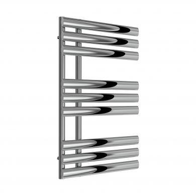 Reina Chisa Chrome Designer Mild Steel Towel Radiator 820x500mm