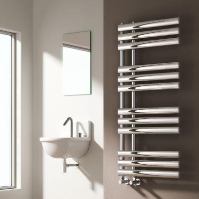 Reina Chisa Designer Mild Steel Towel Radiator 820x500mm