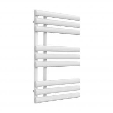 Reina Chisa White Chrome Designer Mild Steel Towel Radiator 820x500mm