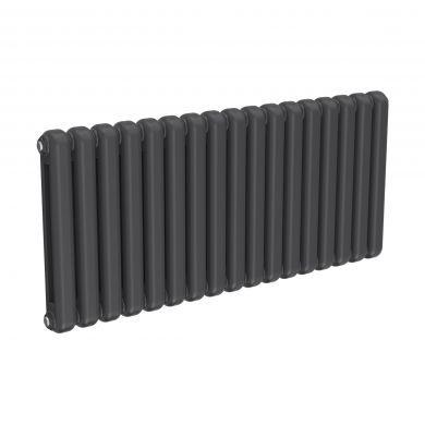 Reina Coneva Horizontal Anthracite Designer Mild Steel Column Radiator 550x1210mm