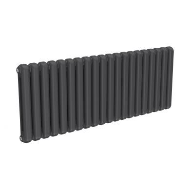 Reina Coneva Horizontal Anthracite Designer Mild Steel Column Radiator 550x1420mm