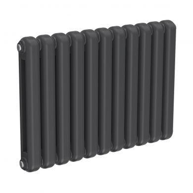Reina Coneva Horizontal Anthracite Designer Mild Steel Column Radiator 550x790mm