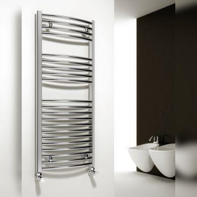 Reina Diva Curved Mild Steel Towel Radiator 800x400mm