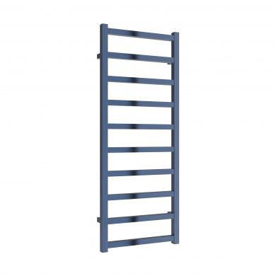 Reina Fano Satin Blue Aluminium Designer Towel Rail 1240x485mm