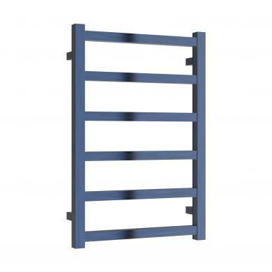 Reina Fano Satin Blue Aluminium Designer Towel Rail 720x485mm