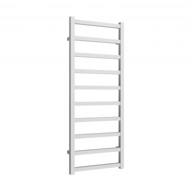Reina Fano White Aluminium Designer Towel Rail 1240x485mm