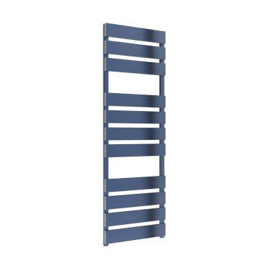 Reina Fermo Satin Blue Aluminium Designer Towel Rail 1550x480mm