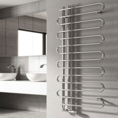 Reina Jesi Designer Mild Steel Towel Radiator 1000x500mm