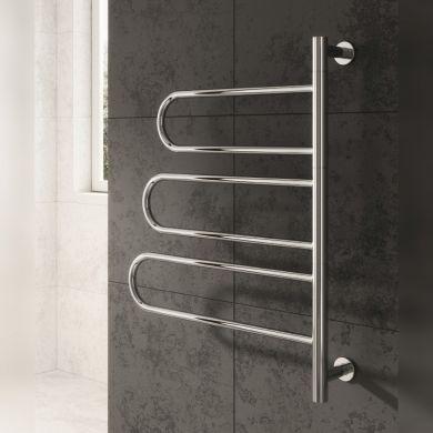 Reina Orne Dry Electric Stainless Steel Designer Towel Rail 750x550mm