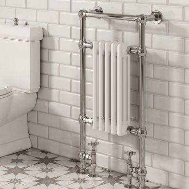 Reina Oxford Traditional Steel Towel Radiator 960x500mm