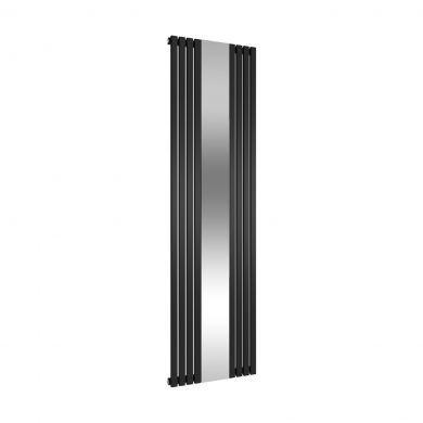 Reina Reflect Black Mirrored Designer Mild Steel Radiator 1800x445mm