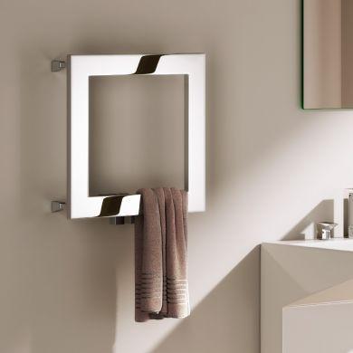 Reina Square Stainless Steel Designer Towel Radiator 450x450mm