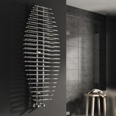Reina Teano Chrome Designer Mild Steel Towel Radiator 1300x600mm
