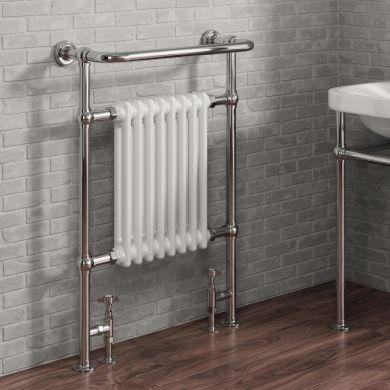 Reina Victoria Traditional Steel Towel Radiator 960x675mm